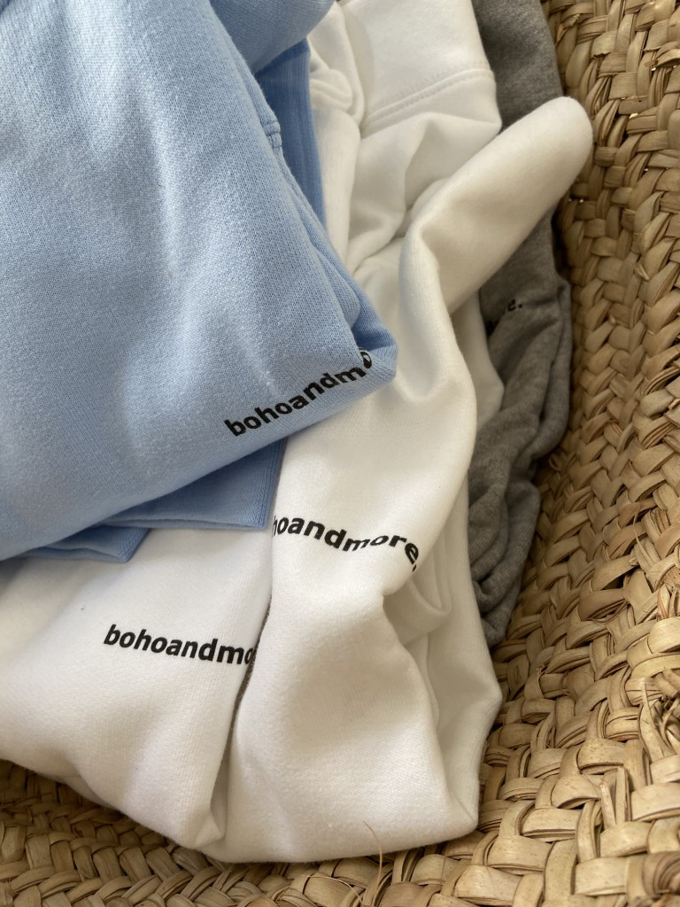 Sky Blue Bohoandmore sweatshirt with hoodie - L