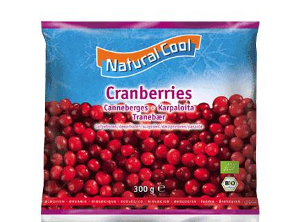 Natural Cool bio Frozen  Cranberries 300g