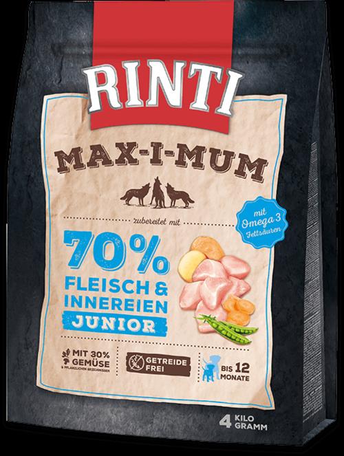 Rinti Max-i-Mum Chicken Junior Dog food - 4kg