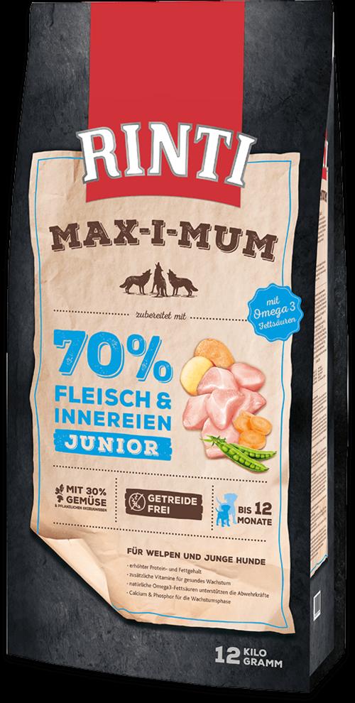 Rinti Max-i-Mum Chicken Junior Dog food - 12kg