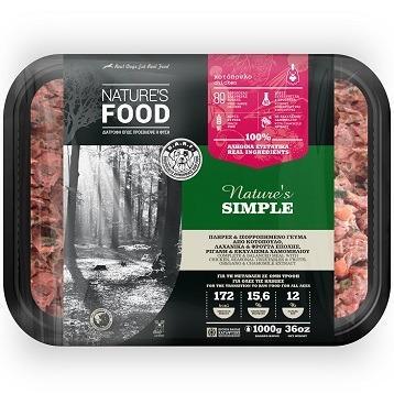 FROZEN BULK NATURE'S SIMPLE Dog food - 1kg