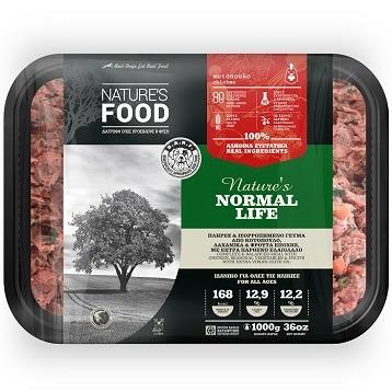 FROZEN BULK NATURE'S NORMAL LIFE Dog food - 1kg