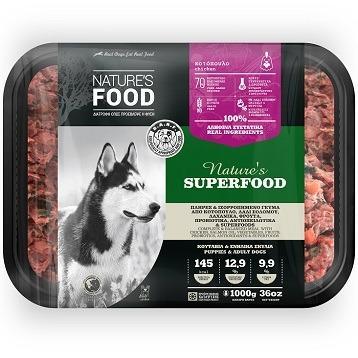 FROZEN BULK NATURE'S SUPERFOO Dog food - 1kg
