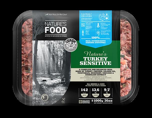 FROZEN BULK NATURE'S TURKEY SENSITIVE Dog food - 1kg