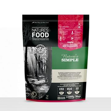 FROZEN PATTIES NATURE'S SIMPLE Dog food - 1kg