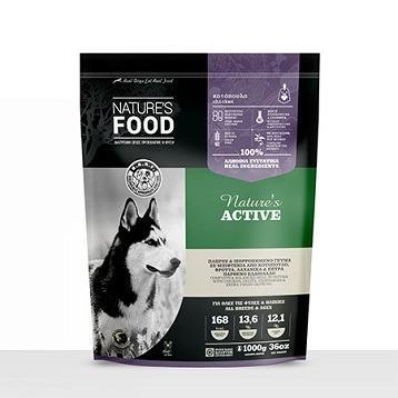FROZEN PATTIES NATURE'S ACTIVE Dog food - 1kg