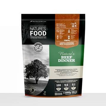 FROZEN PATTIES NATURE'S BEEF DINNER Dog food - 1kg