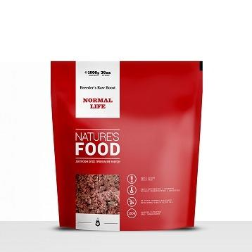 NATURE'S NORMAL LIFE BREEDER'S RAW BOOST Dog food - 1kg
