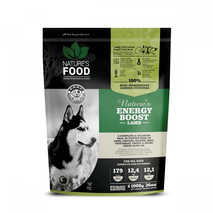 FROZEN PATTIES NATURE'S ENERGY BOOST Dog food - 1kg