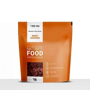 NATURE'S BEEF DINNER BREEDER'S RAW BOOST Dog food - 1kg
