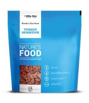 NATURE'S TURKEY SENSITIVE BREEDER'S RAW BOOST Dog food - 1kg