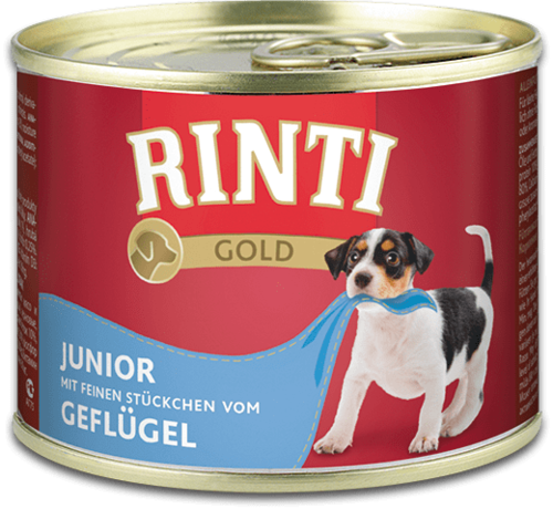 Rinti Gold Junior + Poultry Can Dog food - 185g