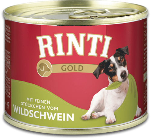 Rinti Gold wild boar Can Dog food - 185g