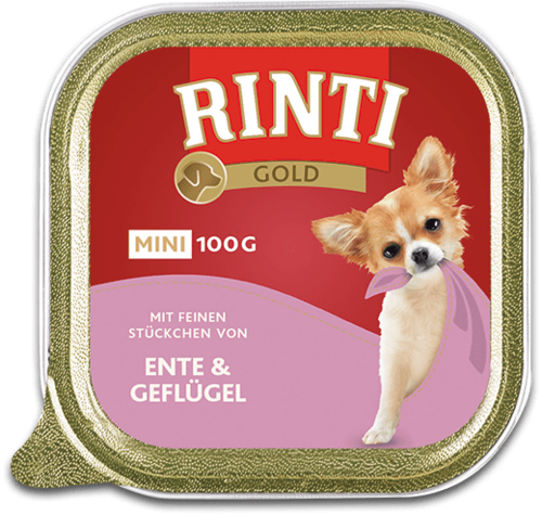 Rinti Gold mini Duck & Poultry Shell Dog food - 100g
