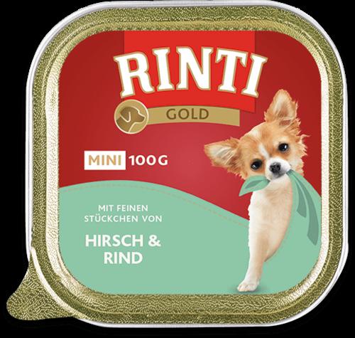 Rinti Gold mini deer & beef Shell Dog food - 100g