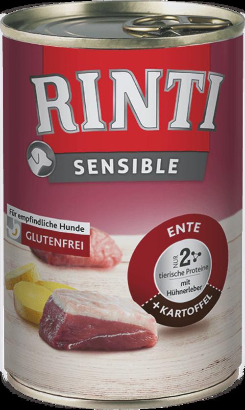 Rinti Sensible Duck Chicken Liver + Potato Can Dog food - 400g