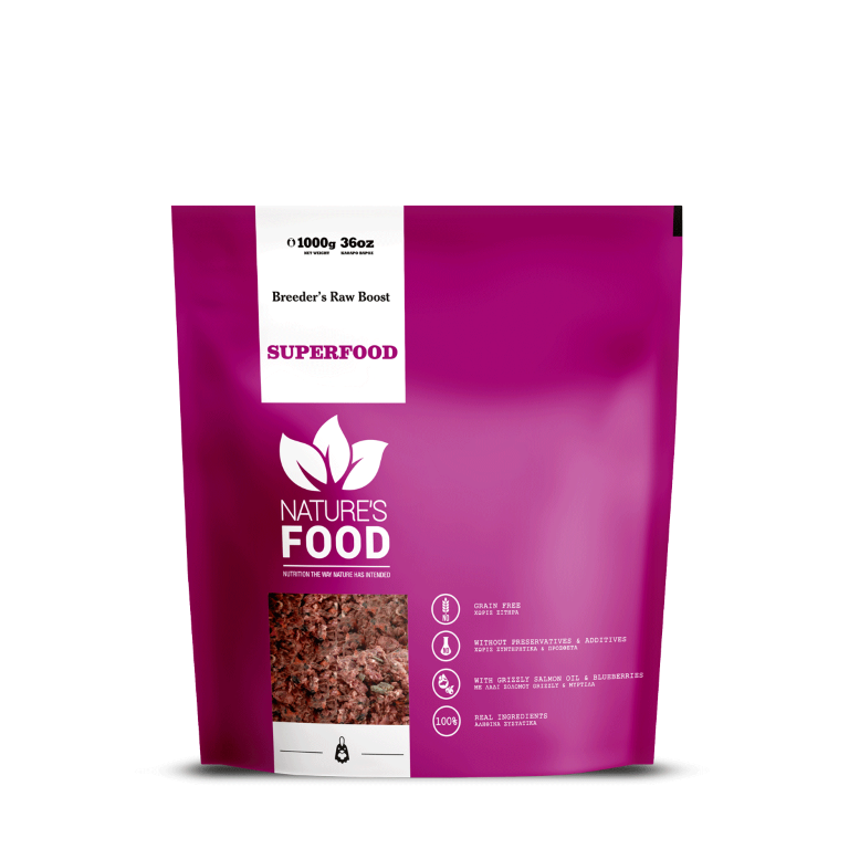 NATURE'S SUPERFOOD BREEDER'S RAW BOOST Dog food - 1kg