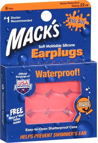 Macks Kids Earplugs - 6 Pairs