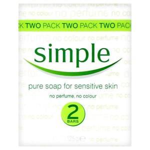 Simple Soap 125gr X 2 Bars