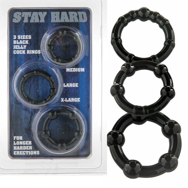 STAY HARD THREE RINGS BLACK