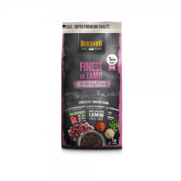 DOG FOOD BERCANDO - FINEST GF LAMB 1KG