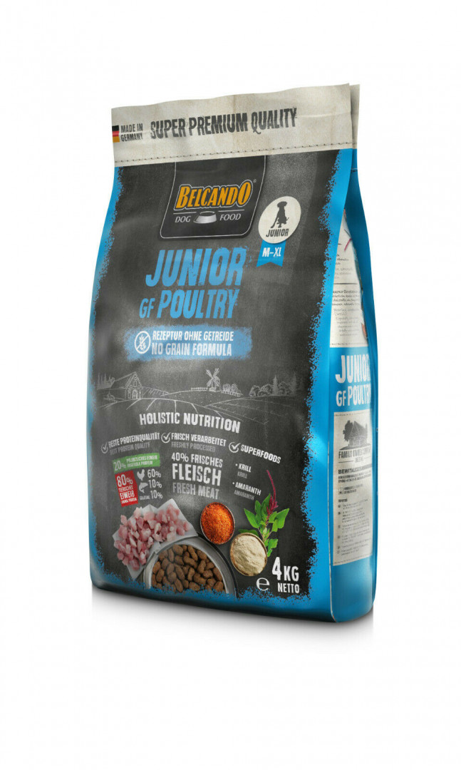 DOG FOOD BERCANDO - JUNIOR GF POULTRY 4KG