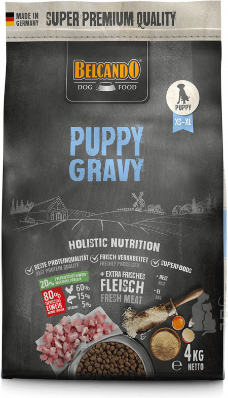 DOG FOOD BERCANDO - PUPPY GRAVY 4KG