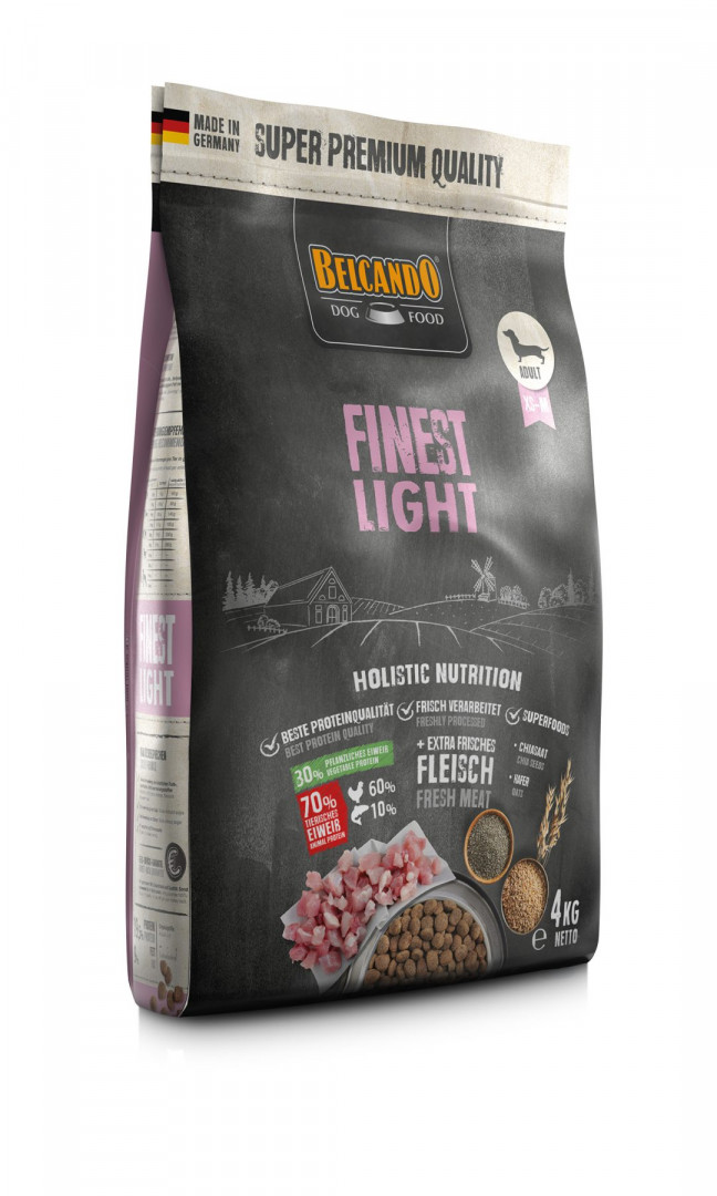 DOG FOOD BERCANDO - FINEST LIGHT 4KG