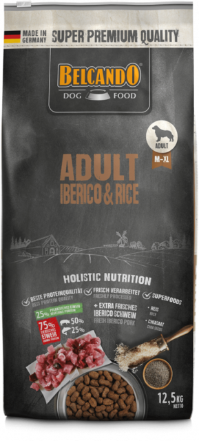DOG FOOD BERCANDO - ADULT IBERICO & RICE 12.5 KG
