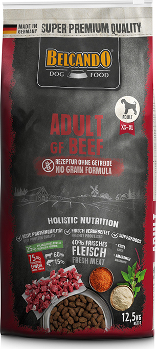 DOG FOOD BERCANDO - ADULT GF BEEF 12.5KG