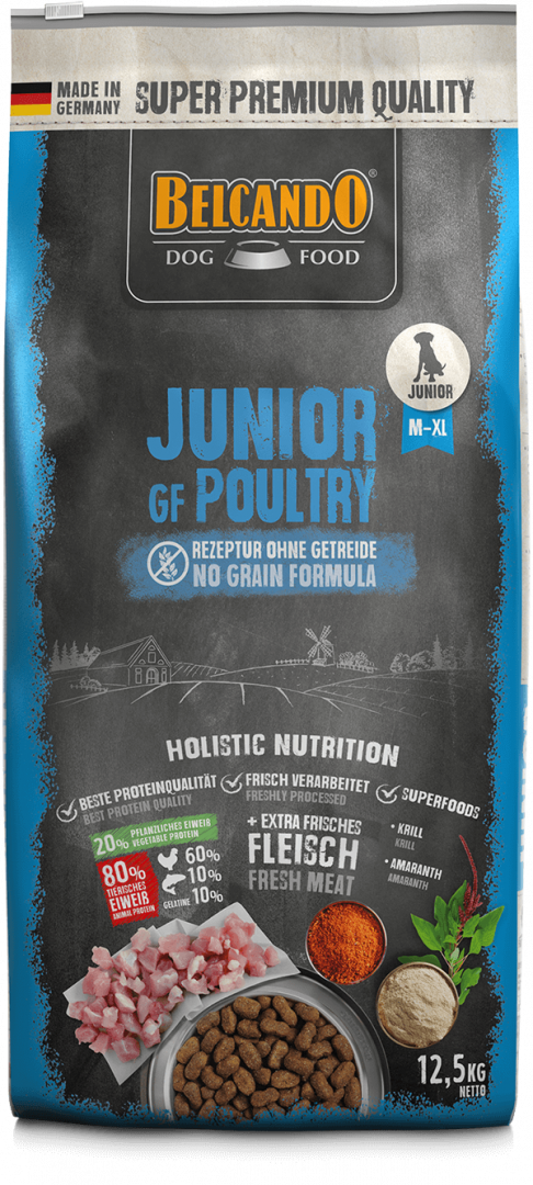 DOG FOOD BERCANDO - JUNIOR GF POULTRY 12.5KG