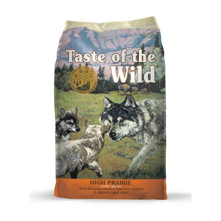 TASTE OF THE WILD - HIGH PRAIRIE PUPPY BISON & ROASTED VENISON 2KG