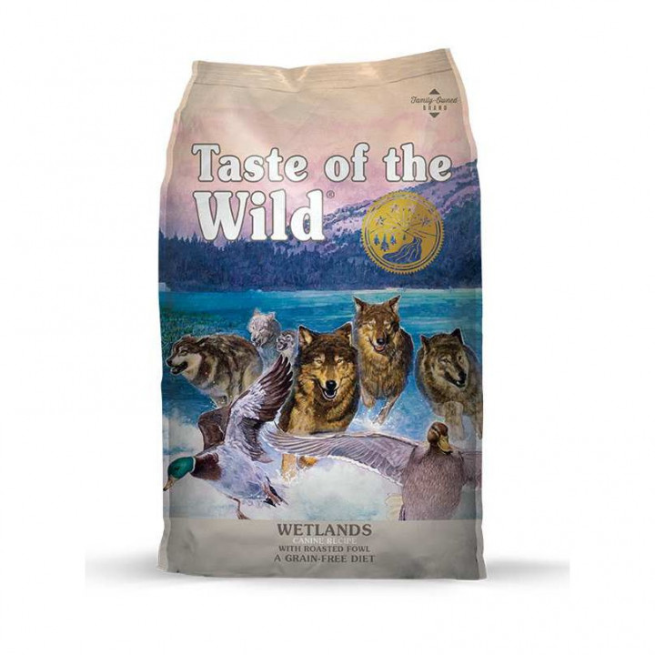 TASTE OF THE WILD - WETLANDS CANINE FORMULA WILD FOWL 12.2KG