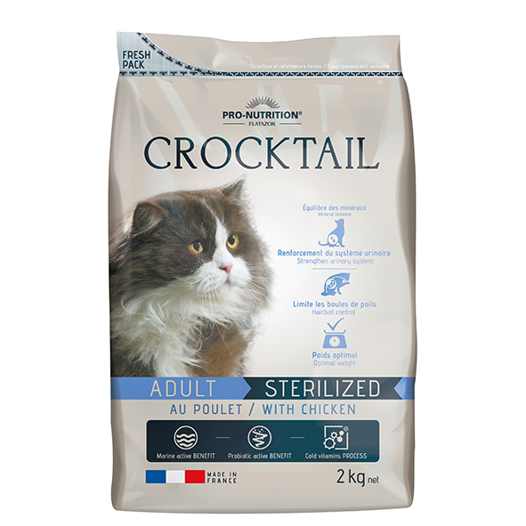 Pro-Nutrition Crocktail Adult Multi Food for sterilized cat - Chicken 2kg