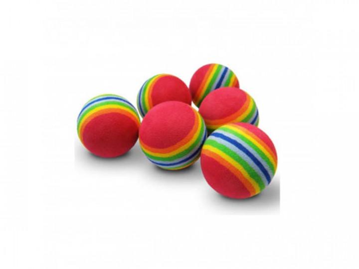 PAWISE RAINBOW FOAM BALL cat toy