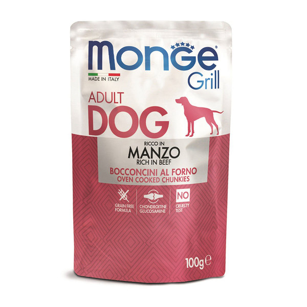 Monge grill adult dog Food with beef 100g
