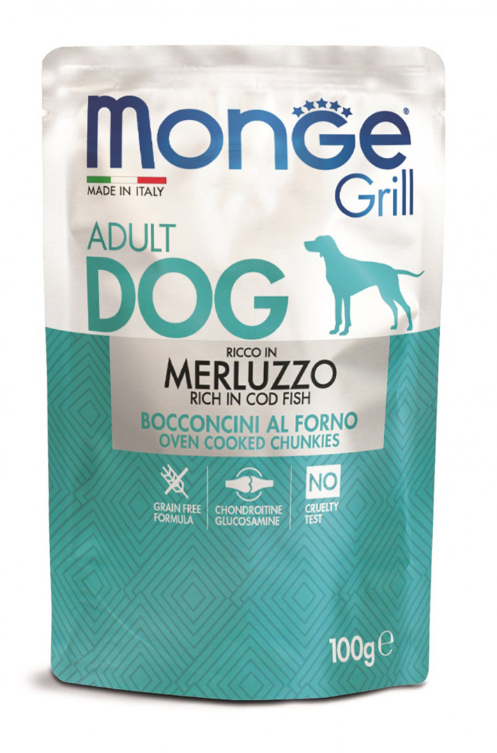 Monge grill adult dog Food with cod fish 100g