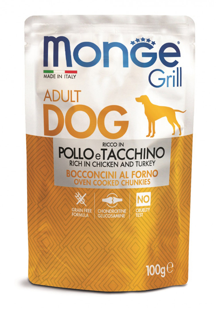 Monge grill adult dog Food with chicken and turkey 100g