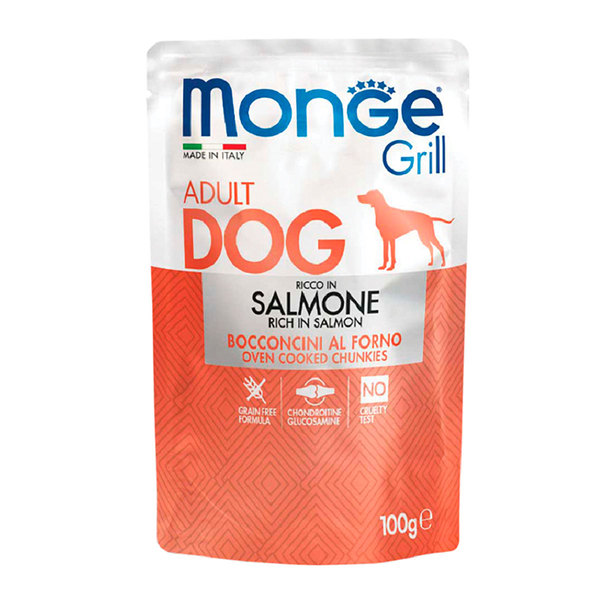 Monge grill adult dog Food with salmon 100g
