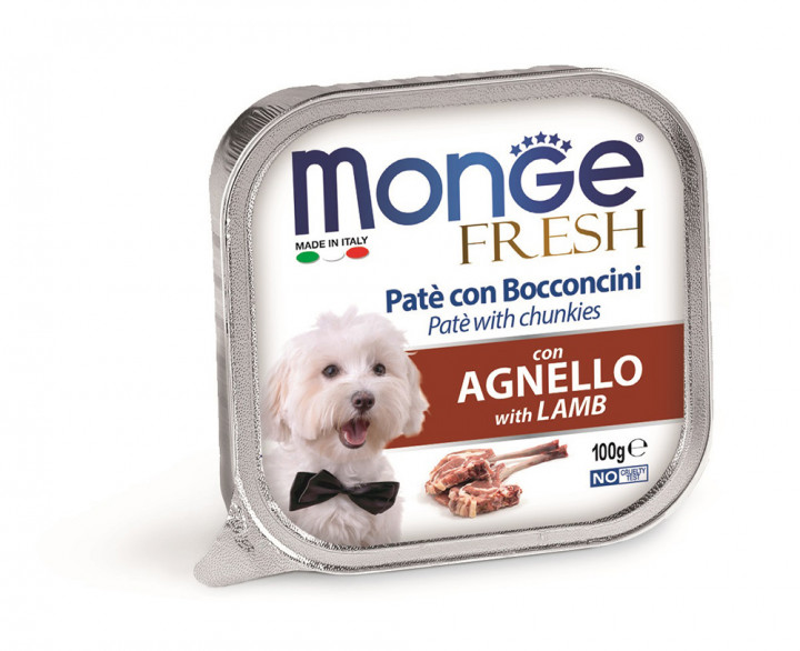 Monge Fresh Pâté Dog Wet Food with Lamp 100g