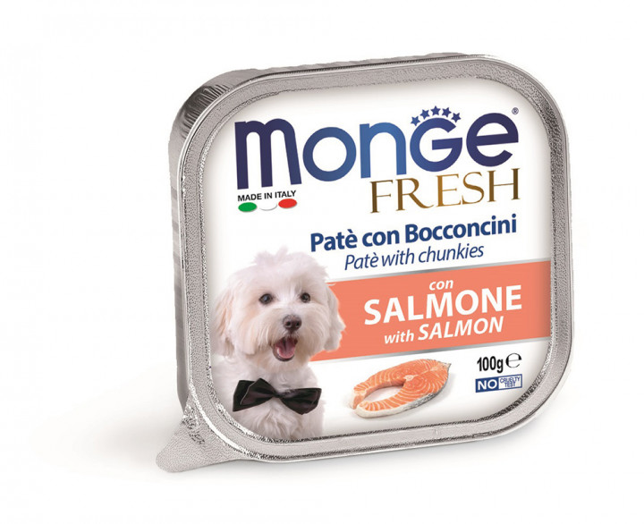Monge Fresh Pâté Dog Wet Food with Salmon 100g