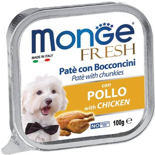 Monge Fresh Pâté Dog Wet Food with Chicken 100g