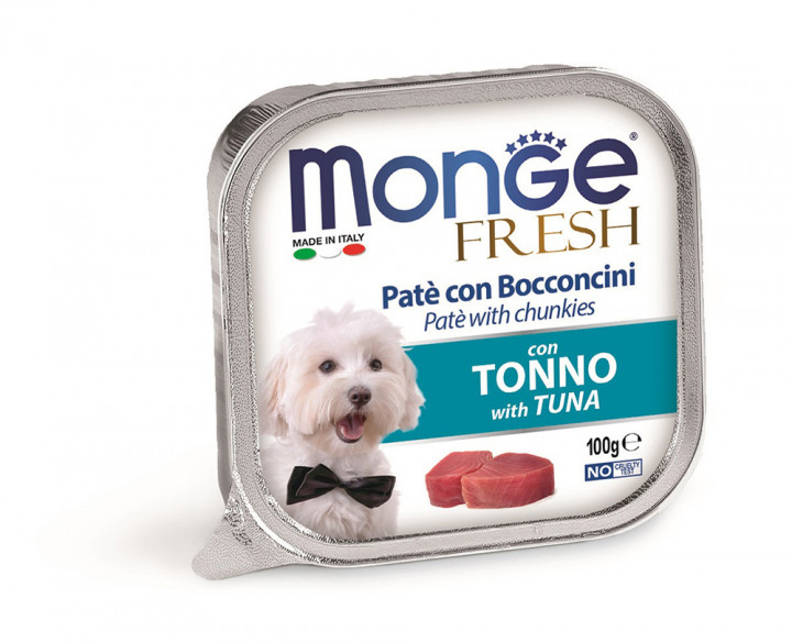 Monge Fresh Pâté Dog Wet Food with Tuna 100g