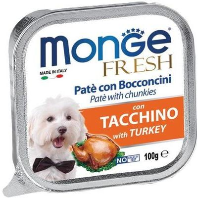 Monge Fresh Pâté Dog Wet Food with Turkey 100g