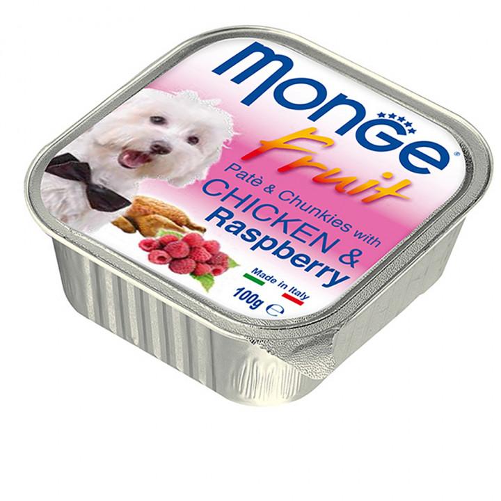 Monge Fruit Dog Wet Food Chicken and Raspberry 100g