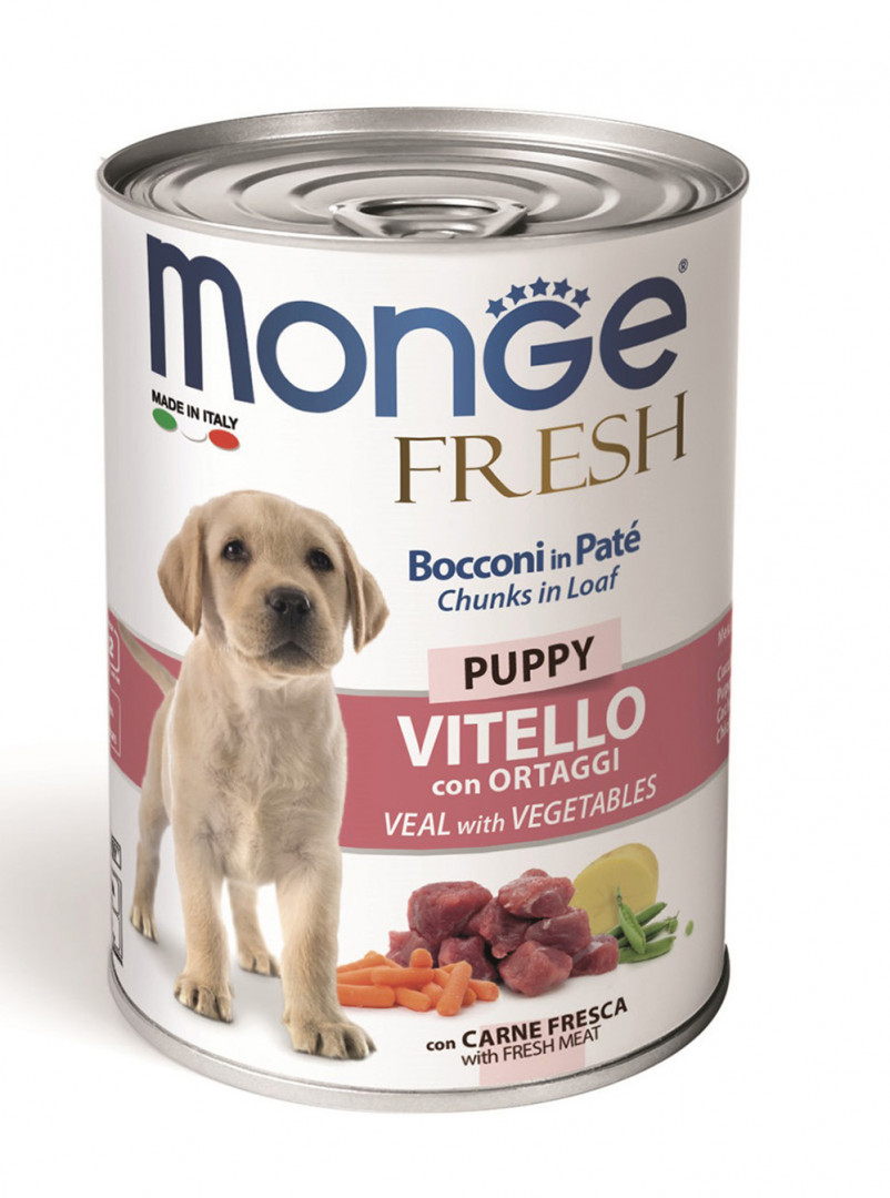 Monge Fresh Puppy Wet Food with Veal and Vegetables 400g