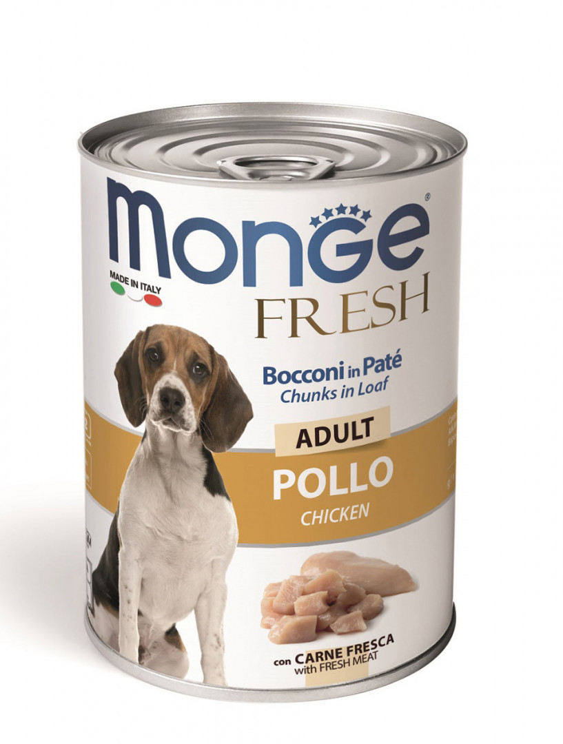 MONGE Fresh Adult Dog Wet Food with Chicken 400g
