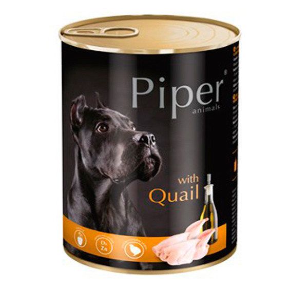 Piper animals Wet Dog Food with Quail 400g