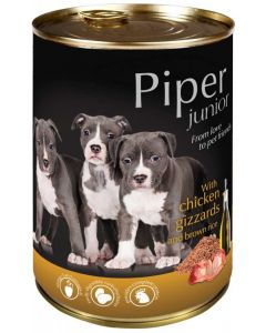 Piper animals Wet Dog Food with chicken gizzards and brown rice 400g