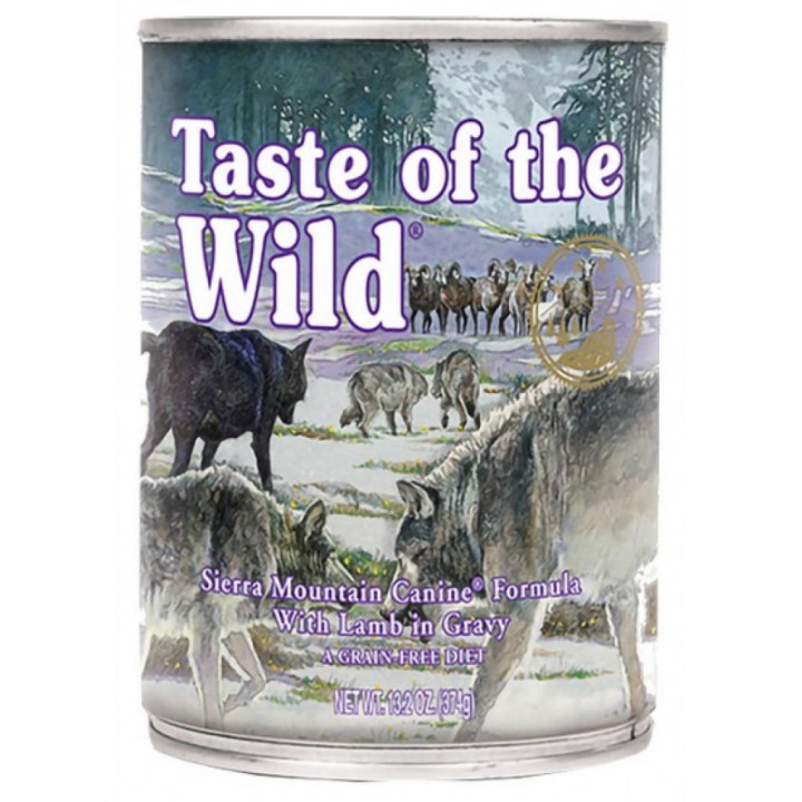 Taste Of The Wild Dog Food Sierra Mountain Roasted Lamb In Gravy 390g